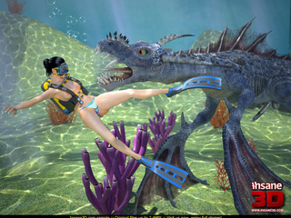 Blue sea creature pounding ponytailed - Cartoon Sex - Picture 1
