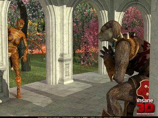 Hot fucking scene of 3D toon tiger-woman and - Cartoon Sex - Picture 1
