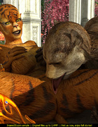 Hot fucking scene of 3D toon tiger-woman and…