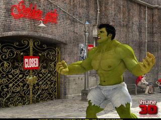 Angry Hulk banged roughly blonde hottie in - Cartoon Sex - Picture 1
