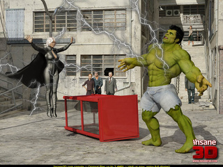 Angry Hulk banged roughly blonde hottie in - Cartoon Sex - Picture 2
