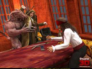 Horny Davy Jones rocking with 3D toon - Cartoon Sex - Picture 2