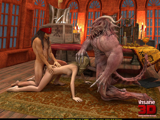 Horny Davy Jones rocking with 3D toon - Cartoon Sex - Picture 4