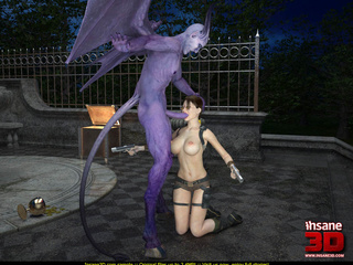 Purple demon with horns, tail and wings - Cartoon Sex - Picture 2