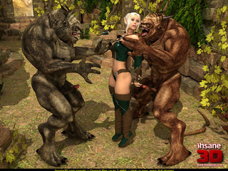 Grey and brown forest creatures handling - Cartoon Sex - Picture 2