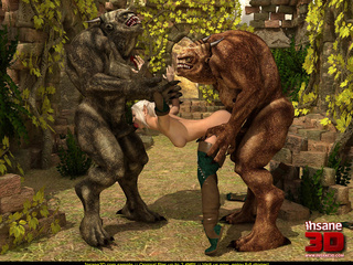 Grey and brown forest creatures handling - Cartoon Sex - Picture 3
