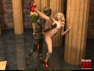 Insane mummy gets alive and fucks a blonde - Cartoon Sex - Picture 2