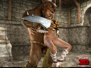 Furious brown orc with a big dick fucks badly - Cartoon Sex - Picture 3