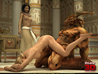 Egyptian queen and her blonde slave girl get - Cartoon Sex - Picture 2