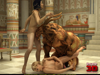 Egyptian queen and her blonde slave girl get - Cartoon Sex - Picture 3