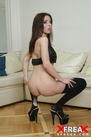 Tall long hair damsel works cock on sofa and rides it cowgirl style for cum - XXXonXXX - Pic 7