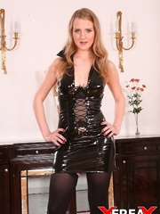 Sweet blonde in leather gets rammed hard in - XXXonXXX - Pic 2