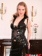 Sweet blonde in leather gets rammed hard in - XXXonXXX - Pic 5