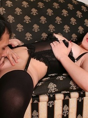 Sweet blonde in leather gets rammed hard in - XXXonXXX - Pic 14