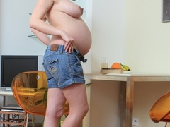 Young pregnant sexy chick feeling horny strips - XXXonXXX - Pic 8