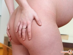 Young pregnant sexy chick feeling horny strips - XXXonXXX - Pic 10