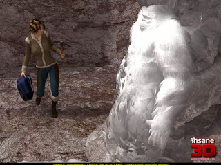 Cute mountain climber in jeans and jacket - Cartoon Sex - Picture 1