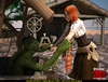 Curvy redhead ponytail chick banged by green slimy monster out from the