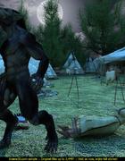 Big black werewolf shoves hard cock in village…