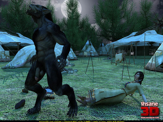 Big black werewolf shoves hard cock in - Cartoon Sex - Picture 2