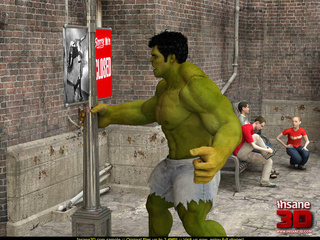 Angry Hulk cools off when blonde superhero - Cartoon Sex - Picture 1