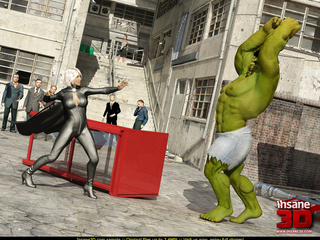 Angry Hulk cools off when blonde superhero - Cartoon Sex - Picture 2