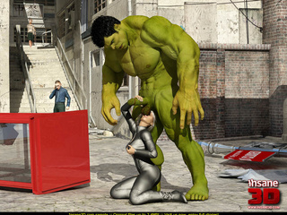 Angry Hulk cools off when blonde superhero - Cartoon Sex - Picture 3