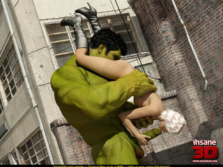 Angry Hulk cools off when blonde superhero - Cartoon Sex - Picture 4