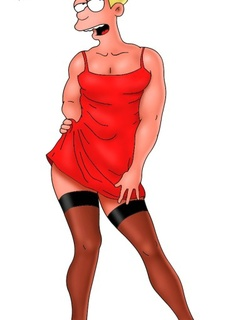 Cute pics of crossdressed Fry from porn comics - Picture 2