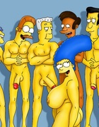 Ladies from Simpsons porn enjoy gangbanging…