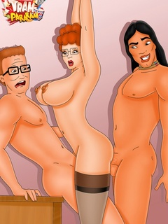 Porn Hank Hill enjoys anal sex Luanne while other - Picture 2