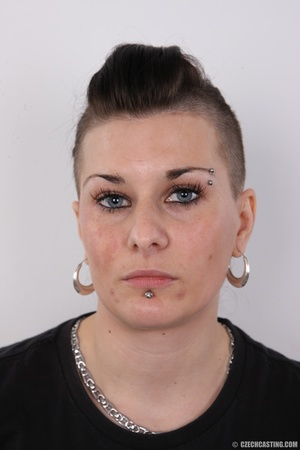 Tattooed pierced chick with big round ti - XXX Dessert - Picture 1