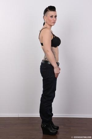Tattooed pierced chick with big round ti - XXX Dessert - Picture 5
