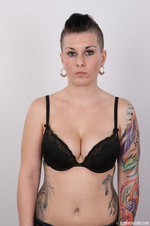 Tattooed pierced chick with big round ti - XXX Dessert - Picture 6