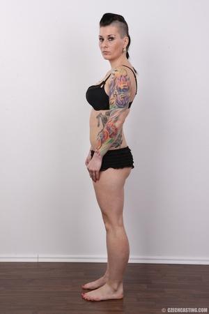 Tattooed pierced chick with big round ti - XXX Dessert - Picture 8