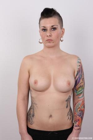 Tattooed pierced chick with big round ti - XXX Dessert - Picture 11