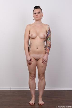 Tattooed pierced chick with big round ti - XXX Dessert - Picture 14