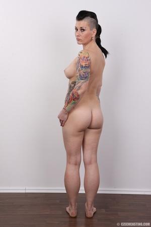 Tattooed pierced chick with big round ti - XXX Dessert - Picture 17
