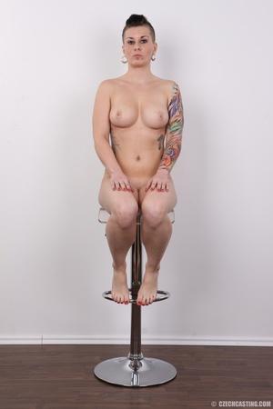 Tattooed pierced chick with big round ti - XXX Dessert - Picture 19