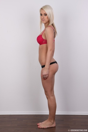 Sweet lusty blonde in hot red bra and bl - XXX Dessert - Picture 8