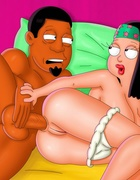 Hayley Smith from porn American Dad gets her pooper rimmed by a black
