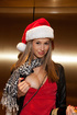 Drunk blonde teen gets dirty at the Christmas…