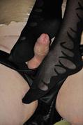 black, pantyhose, riding