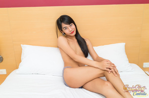 Lovely ladyboy makes her cock stiff jerking off - XXXonXXX - Pic 4