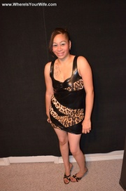 seductive exotic housewife posing