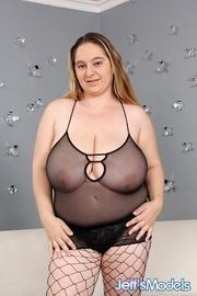 plump dame black lingerie
