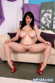 chubby raven-haired beauty black