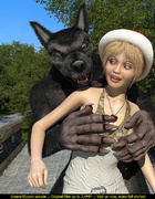 Horny Wolf pounding hard slutty Little Riding Hood…