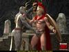 Busty fallow deer-like woman gives head to a horny Roman legionnaire