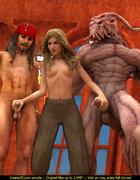 3D  porn toon Jack Sparrow and Captain Davy Jones…